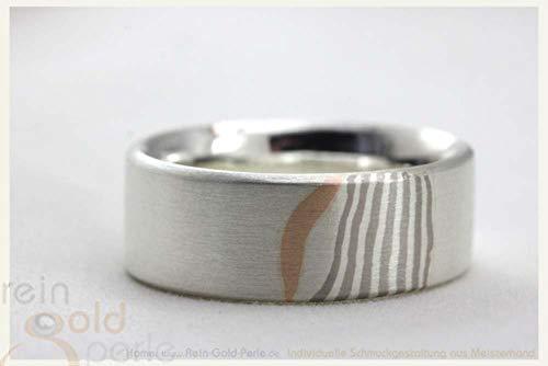♡ Mokume Gane Ring - 585 Rotgold, Palladium, Silber ♡ In Handarbeit gefertigter Ring aus der Serie: - Mokume-Gane -