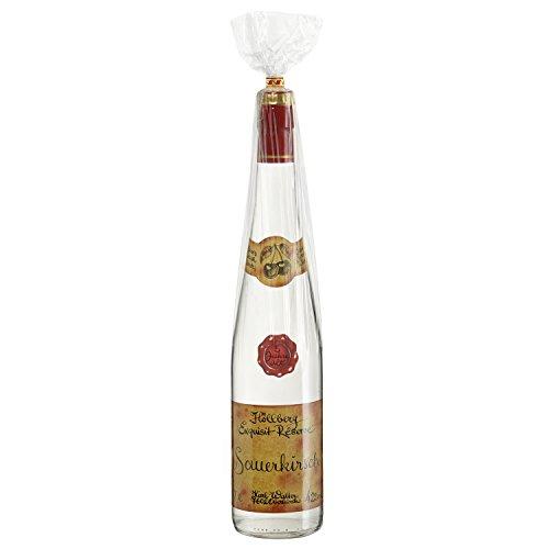 Original Höllberg Sauerkirsch Brand Réserve 42% vol. 0.7L | Premium Obstbrand mit edlem Kirsch Aroma | Edelbrand aus Familienbrennerei