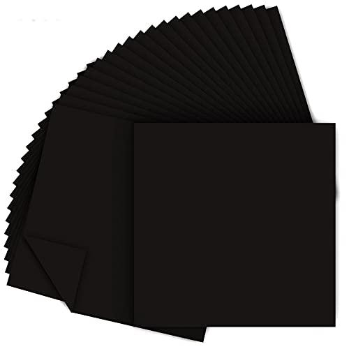 Papel para Papiroflexia 200 Hojas de Origami VíVido de Doble Cara Kit de Origami para NiñOs para Manualidades DIY Proyectos De Artes Y Manualidades Negro