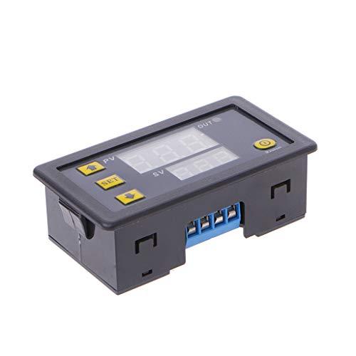 BIlinli 12V Timing-Verzögerungsrelais-Modul Zyklus-Timer-Digital-LED-Doppelanzeige 0-999 Minuten