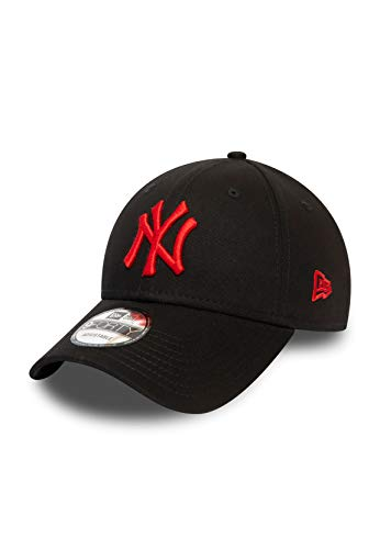 New Era League Essential 9Forty Adjustable Cap NY Yankees Schwarz Rot, Size:ONE Size
