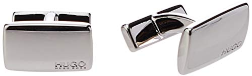 HUGO Herren Cuff Links E-Liberty, Silver (40), One Size