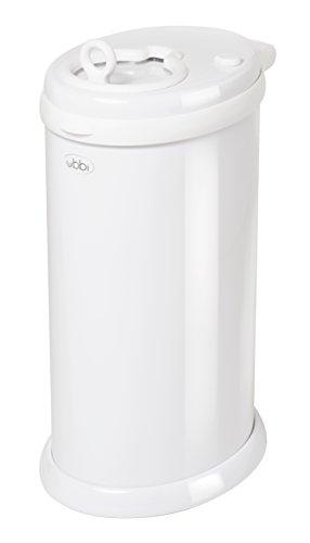 Ubbi U10000 - Contenedor de pañales, color blanco