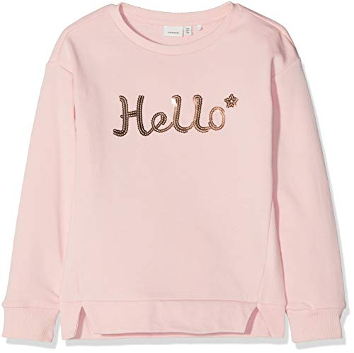NAME IT NAME IT Mädchen NKFBRETTY LS Sweat UNB Sweatshirt, Rosa (Strawberry Cream), 122 (Herstellergröße: 122-128)