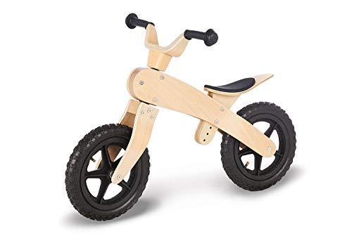 Pinolino Laufrad John, unplattbare Luftbereifung, aus Holz, Lenker und Sattel höhenverstellbar, empfohlen für Kinder von 3 – 5 Jahren