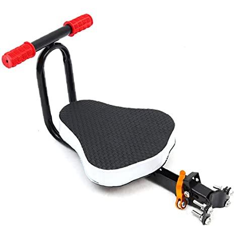 Tuimiyisou Asiento Bicicleta De Niño, Asiento Plegable De Liberación Rápida del Bebé De Bicicletas Silla Infantil Delantero del Asiento De Una Silla Cojín