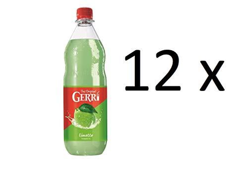 Gerry Limette grün 12 x 1000ml Limettenlimonade Limonade in Pet Flaschen inclusive MEHRWEG Pfand