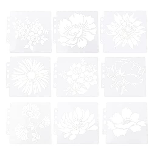 IMIKEYA 1 Conjunto de Plantilla de Pintura de Arte Plantilla de Dibujo Reutilizable Plantilla de Graffiti de Plantilla