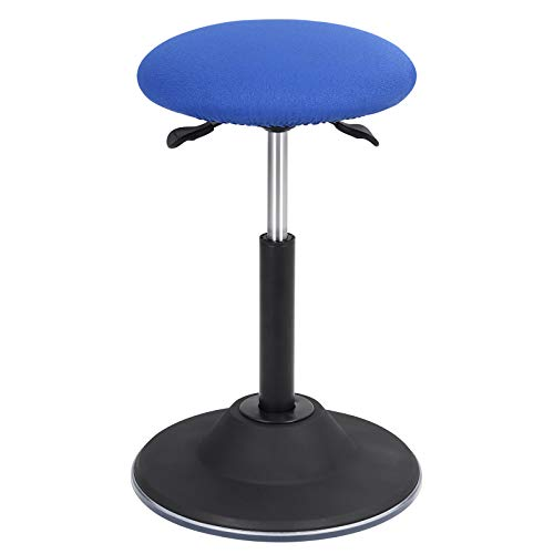 SONGMICS Active stool, Adjustable Height Standing Stool, 360° Swivel Sitting Balance Chair, for Office Home, Black