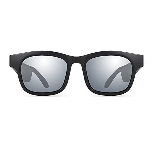 Kjy123 Smart Bluetooth 5.0 Gafas de Sol, Música inalámbrica Audio Stereo Gafas, Hombres Outdoor Deporte Auriculares Trend Gafas de Sol (Color : Color4)