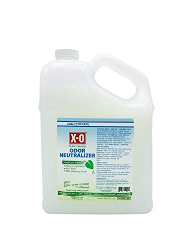 X-O Odor Neutralizer Mild Cleaner Concentrated (32oz, 1gallon, 5gallons) - All-Natural Odor Neutralizer Deodorizer. Concentrate, 1-Gallon