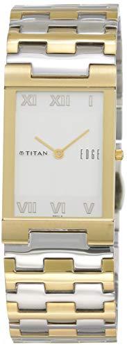Titan Edge analog White Dial Men's Watch NK1296BM02A/NN1296BM02