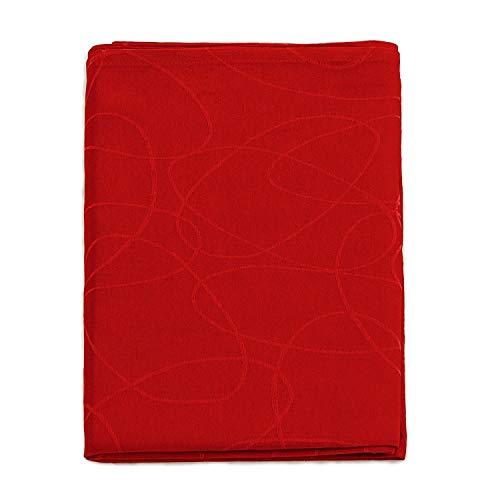 Elegante tovaglia rossa, con trattamento anti-macchie, formato grande, rif. Lines, 20% poliestere/80% cotone/ cotone/poliestere, Red, 6 NAPKINS 18 x 18