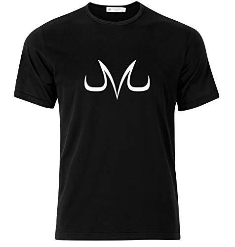 Vegeta Majin Dragon Character Symbol Design T-Shirt - Modern Quality T-Shirt for Men (X-Large) Black