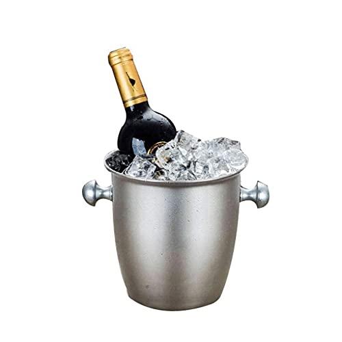 DAQUANTOU Cubo Cubo de Vino de Acero Inoxidable, Cubo de Champán, Enfriador de Vino, Enfriador de Botellas, Enfriador de Botellas, Cubo de Hielo de Acero Inoxidable