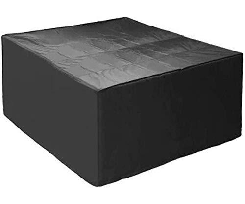 FUSHOU-Funda Para Muebles De Jardín, Cubierta Para Muebles De Patio Rectangular, 420D Cubierta Grande Para Muebles De Ratán Para Exteriores, Para Niebla De Polvo Anti-Amarillo - Anti Aguanieve,Negro