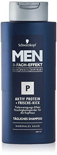 SCHWARZKOPF MEN Aktiv Protein Frische-Kick Shampoo, 1er Pack (1 x 250 ml)