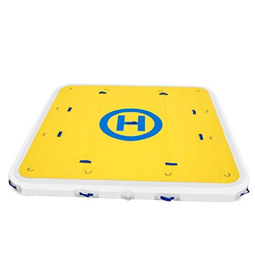 VEVOR Plataforma Hinchable 1,8 x 1,55 m Plataforma Inflable Flotante 6 x 5 Pies Plataforma Flotante Hinchable para 3-5 Personas Plataforma de Natación Inflable con Bombas Eléctrica y Manual Barco Yate