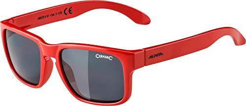 ALPINA Unisex - Kinder, MITZO Sonnenbrille, red, One size