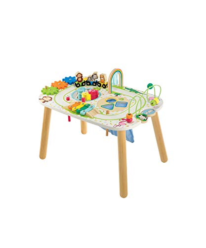Early Learning Centre Wooden Activity Train Table, Hand Eye Coordination Training and Fine Motor Skills Toys for 2 Year Old, Amazon Exclusive