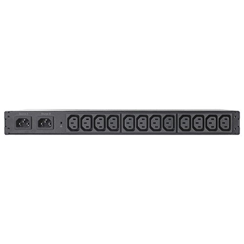 APC AP4421 conmutador de Transferencia automática (ATS) - Conmutadores de Transferencia automática (ATS) (50/60 Hz, Sobreintensidad, Montaje en Rack o Montaje en Bastidor, 1U, Black, LCD)