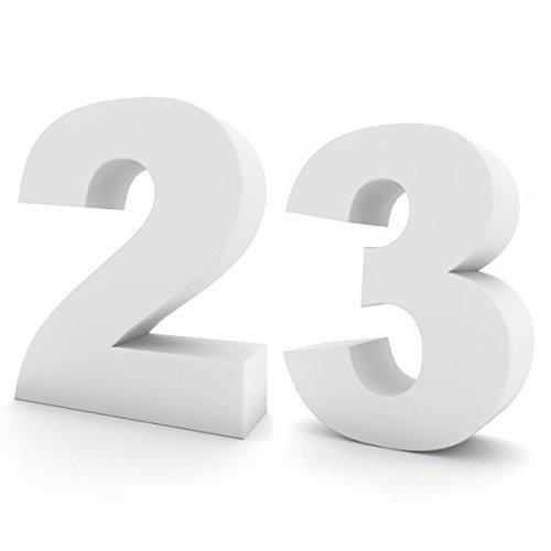Oedim Números de Cumpleaños en Corcho | 60cm de Altura x 15cm de Grosor | Números Fabricados en Corcho Color Blanco | Números de Corcho Elegantes y Originales