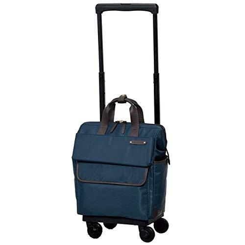 ?[スワニー] キャリーバッグ D-370 カルポ (M21) ネイビー(4輪ストッパー付)三愛オリジナル折りたたみサブバッグ付