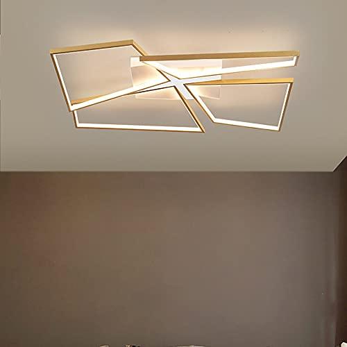 Yirunfa LED Lámpara de Techo, De Estar Luz Techo Regulable Diseño Rectangular con Control Remoto Iluminación Colgante Dormitorio Mesa De Comedor Plafón Acrílico Metálico Simple