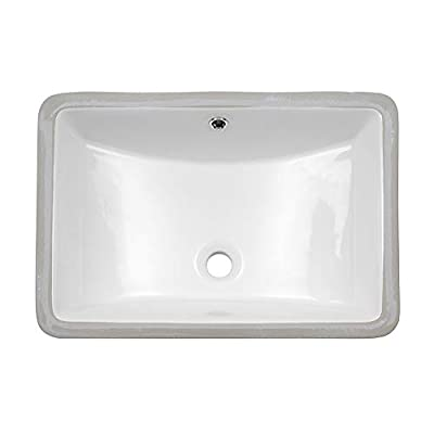 Undermount Vessel Sink - Lordear 21 Inch Rectangle Bathroom Vessel Sink Porcelain Ceramic Lavatory Bathroom Vanity Sink