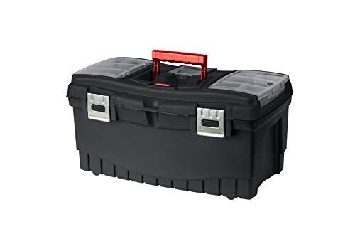 KETER - Caja de herramientas Classic de 22 pulgadas, negro/rojo, tool boxes, 56 x 31 x 28,5 cm
