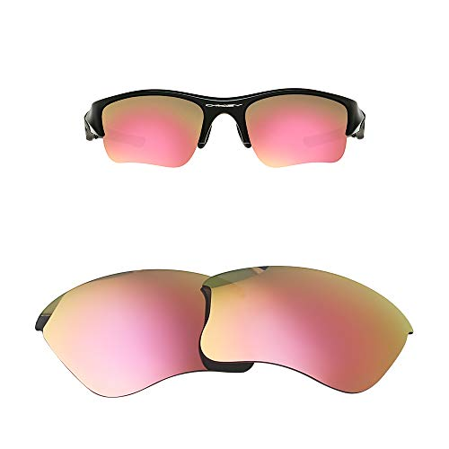 Oak&ban Mirror Polarized Replacement Lenses for Oakley Flak Jacket XLJ Sunglasses-Multi Options,with Lens Cloth (Pink- Polarized)