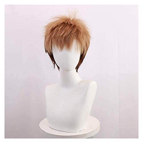 SUCICI Anime Cosplay Wigs Attack on Titan Jean Kirstein Brown Gradient Wig Cosplay Party Wigs+Wig Cap