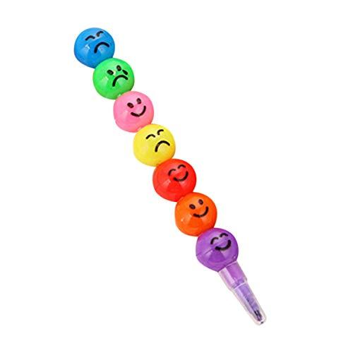Schöne ungiftige Kinder Kinder Buntstift Öl Pastell Zeichen Set Schulbüro Safe Wax Crayon Pen Briefpapier Student Geschenk (Farbe: mehrfarbig)