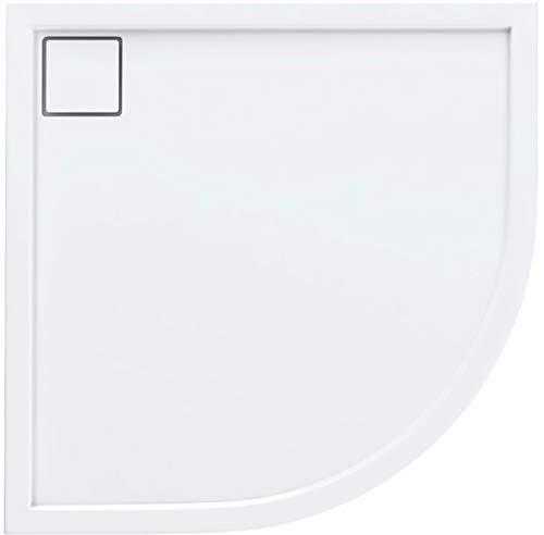 Bac de douche Walk en quart de cercle - En acrylique - Plat et stable - 100 x 100 x 5,5 - R55 - Système Stabilsound®