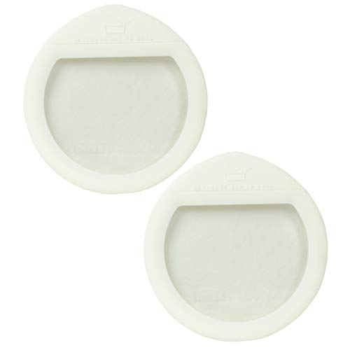 Pyrex Ultimate OV-7201 White Round Glass Storage Lid - 2 Pack