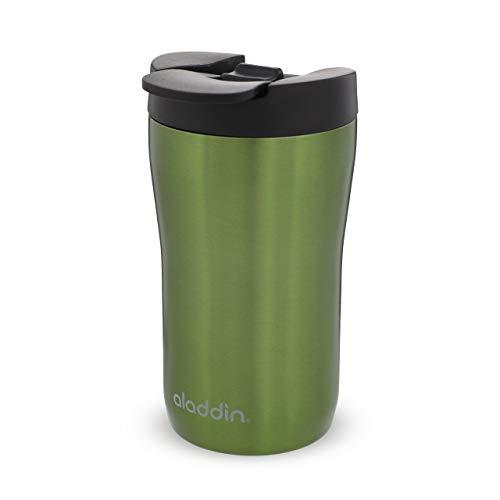 Aladdin Latte Leak-Lock Stainless Steel Mug 0.25L Grün – Auslaufsicher - Doppelwandige Vakuumisolierung - Edelstahlbecher - passt unter die meisten Kaffeemaschinen - BPA-Frei - Spülmaschinenfest
