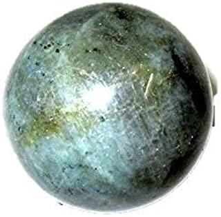 Jet New Natural Labradorite 45-50 mm Ball Sphere Gemstone A+ Hand Carved Crystal Altar Healing Devotional Focus Spiritual Chakra Cleansing Metaphysical