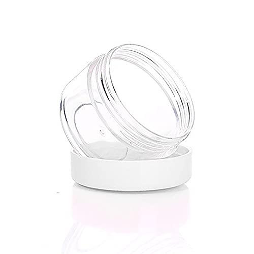 Eco Memos 20pcs Contenants Cosmétiques 5G/7G Voyages en Plastique Clear Cosmetic Pors pour Crèmes, échantillon, Stockage de Maquillage - Petit échantillon de Voyage Conteneur Vide (5g-1)