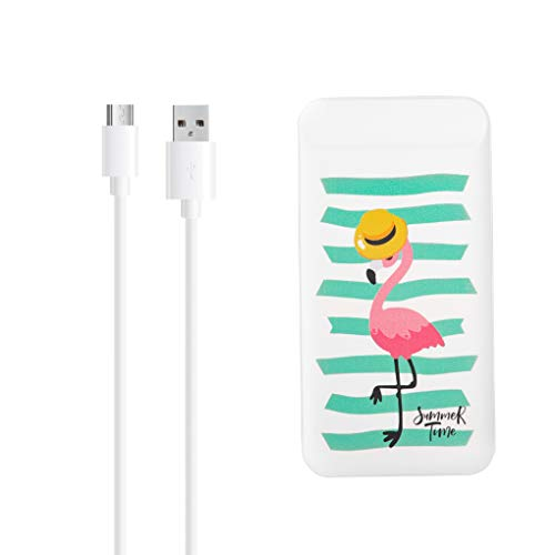 IN ONE Portable Power Bank 10000mAh Fast Charging Dual Output & Input for Mobile and Tablet (Flamingo)