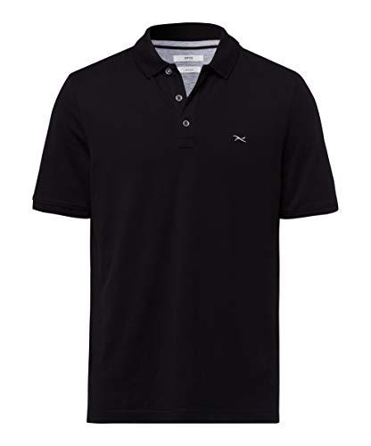 BRAX Herren Style Pete Hi Flex Piqué Poloshirt, Black, XXX-Large
