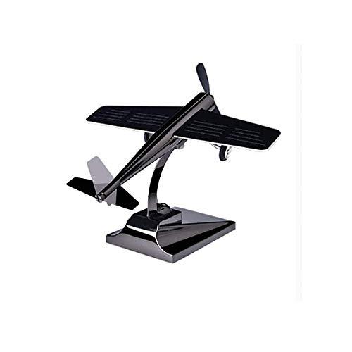 Xingxings Zonne-auto-bewegings-aromatherapie-decoratie-raam-beweeglijk vliegtuig-vliegtuig-model, autozonnelucht-versierd fotovoltaïsche toepassingen voor vast aroma of geur, zwart