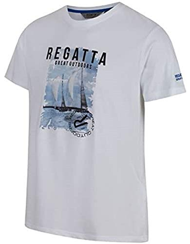 Regatta Cline II T-Shirts/Polos/Gilet. Homme, Blanc, L