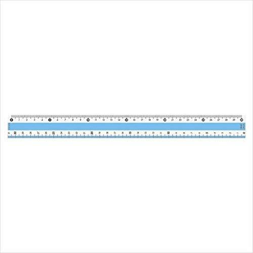 共栄プラスチック カラー定規 30CM ブルー (CPK-30-B)