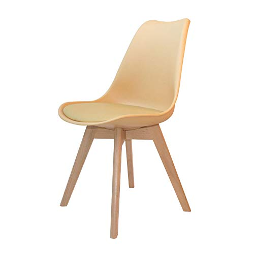 Ventemeublesonline Chaise New Tower Wood Vanille