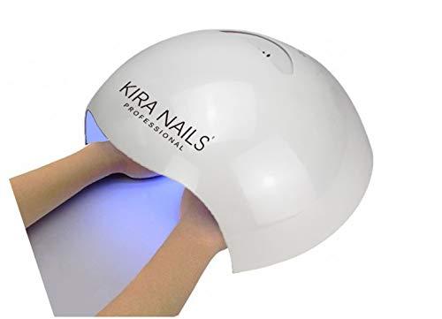 KIRA uñas Professional lámpara LED UV 72W Big de manos y pies con sensor temporizador 10s 30S 60s ricostrizione uñas manicura pedicura Horno Profesional semipermanente y gel