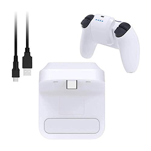 Jnsio Cargador para Mando PS5, Baterías de Litio Recargables de 1500 mAh Rápida con LED Indicador, batería Externa Compatible con Controller PS5