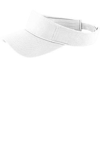 Sport-Tek PosiCharge RacerMesh Visor STC27, White, One Size
