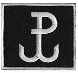 GROM TF-49 Poland Kotwica JWK Special Force Group Tactical Embroidery Patch Hook & Loop Morale Patch Military Patch for Clothing Accessory Backpack Armband