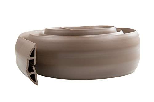 ProTech - stabiler Kabelschutz mit 1 großem Kabelkanal - flexibler PVC-Schlauch - geruchsfrei - für ordentliche Kabel zu Hause, im Büro, Lager & der Werkstatt - leicht zu öffnen - Braun - 2 m lang