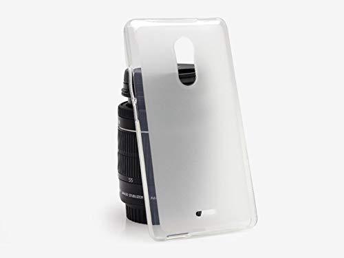 etuo Handyhülle für ZTE Blade V580 - Hülle FLEXmat Hülle - Weiß - Handyhülle Schutzhülle Etui Hülle Cover Tasche für Handy